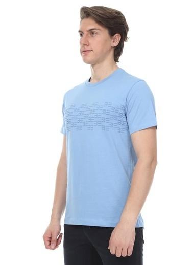 Abbate Sıfır Yaka Tshırt Mavi